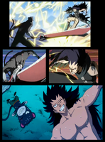 gajeel training by havel01a