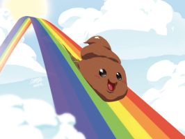 WALLPAPER - RainbowSlide by theCHAMBA