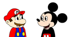 Mario meets Mickey Mouse by MarcosPower1996