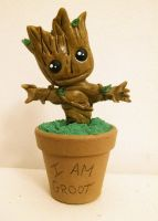 I am Groot - Guardians of the Galaxy by artesladybug