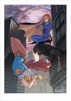 Batgirl and Supergirl! by DrManhattan-VA