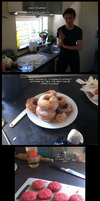 Making Doughnut Burgers by Edowaado