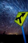 Space Travel Star Trail by CapturingTheNight
