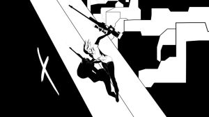 Mr X Sliding from the roof by CeraRalaz