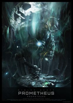 PROMETHEUS - movie poster by P-Lukaszewski