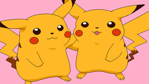 Two Pikachu's - Base by michy123