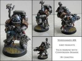 Grey knight Tech-Marine with Conversion Beamer by chaotea