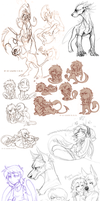 Sketch dump 45 by LiLaiRa
