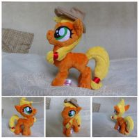 Applejack filly plush by Spark-Strudel