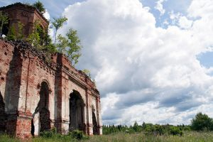 Ruins of a church stock #3 by croicroga