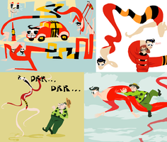 Plastic Man doodles by SulphurSpoon