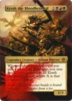 Kresh the Bloodbraided alter by MimiMunster