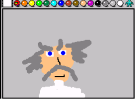 Dr. Wily on Mario Paint by Hordaks-Pupil