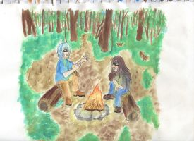 the original  story by the campfire by Katieroses