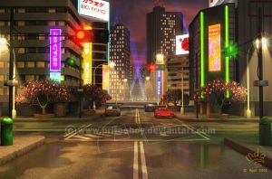 Background - Tokyo wewy comp by priteeboy