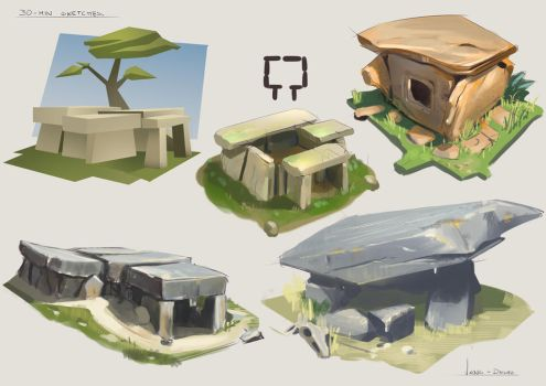 30 Minute Sketches - Theme Dolmen by CaconymDesign