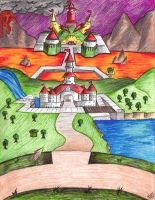 Peach's Castle by Nyctoz