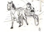 Harness Racing Sketch by UberDre