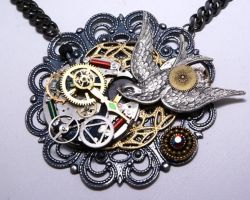 Gears of redemption necklace by Crucifer01