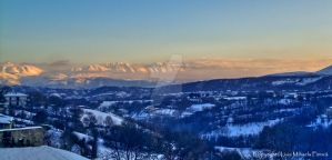 Winter sunrise in the Apennines by TwistedSmile88