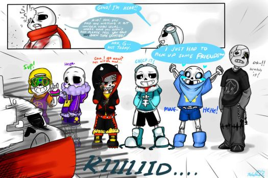 Quantumtale: Little Too Many Sans.... by perfectshadow06