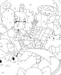 Candyland Lineart  (free to color) by RimoOfArtSchool