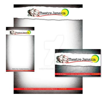 Theatre Jamaica Stationary by simplygraphix