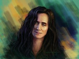 Loki with long hair by Feyjane