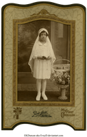 1931 Vintage Photo and Frame 1st Communion by EveyD