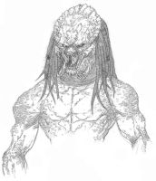 Predator Warm-up Sketch by anthonyharrisart