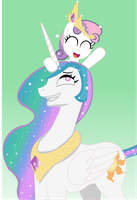 Princess Molestia and Sweetie Bot by allukakalluto