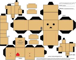 Danbo Heart Cubeecraft by Gizzlobber