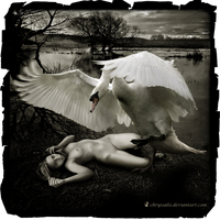 LEDA AND THE SWAN..(RAPE OF THE SOUL..) by chryssalis