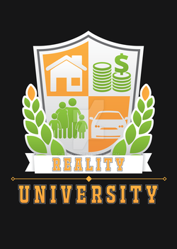Reality U Crest (Commission for a High school) by Peptos