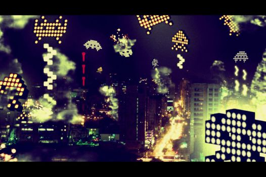 Space Invaders by Vilchis