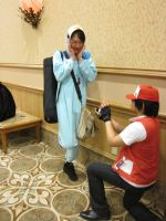 Red catches Piplup by L-Angelo15