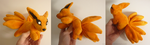 SOLD- Mini Kurama magnet plush by goiku