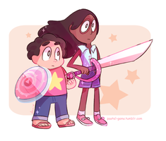 Connie and Steven by Milkii-Ways