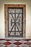 door in the Sacred Heart Convent, Hall in Tirol by annamnt