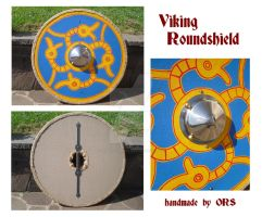 Four serpents viking roundshield by enrico-ors-91