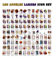 Los Angeles Lakers Icon Set by krkdesigns