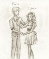 Katniss and Peeta by GaaBByy