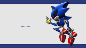 Sonic Channel Wallpaper 2011: Metal Sonic by Lucas-da-Hedgehog