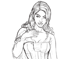 Day 03 - Lorraine Character Design - WIP 01 by dendorrity
