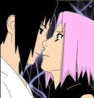 sasusaku -almost kissing- by YOsasu13