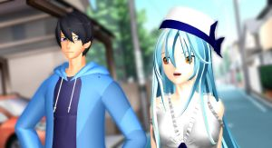 [MMD x Free!] Walking time by LoverCathy