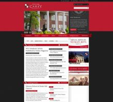 William Carey University Website by HappyCatfishWeb