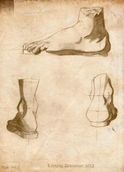 Study of feet by Veronika-Art