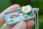 Japan koi fish necklace | Resin and polymer clay by Crystarbor