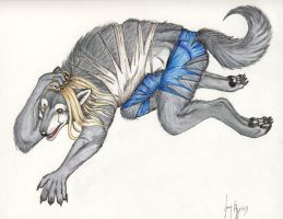 Ambrose shifting to werewolf by arania
